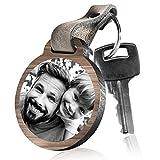 schenkYOU Schlüsselanhänger aus HolzFür den besten Papa der Welt mit rückseitiger Fotogravur
