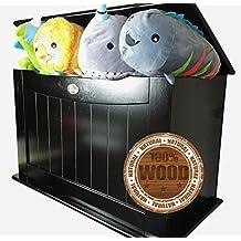 Cajas para juguetes y de almacenamiento–Cajas de almacenamiento para juguetes, madera maciza de color blanco–Cajas para juguetes infantiles–Cajas de almacenamiento–Caja de almacenamiento para habitación infantil.