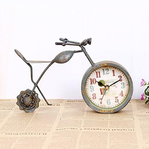 KHSKX Unione retrò orologio muto, ferro, grigio staffa del motociclo, 25 * 10 * 16