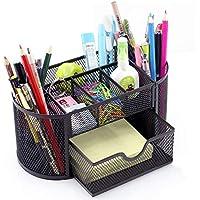 مقصورات ثيغلز متعددة الوظائف، منظم مكتب شبكي، حامل أقلام، صندوق احتواء وتخزين القرطاسية