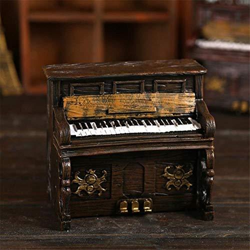 OGAWOO Niños Cajas Dinero Piano Resina Vintage Caja