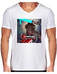 Camiseta V Cuello para Hombre - Chica Espada De Luz by Brian Raggatt