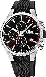 Lotus 18621/3 - Reloj Cronógrafo para Hombre, de Cuarzo con Correa en Caucho