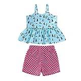 Happy Event Kleinkind Kinder Mädchen Cartoon Zweiteilige Badebekleidung Badeanzug Kleidung Set (Hellblau, 12-18Months-90)