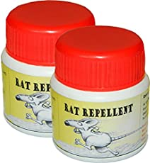 Tufkote RAT REPELLENT, Organic, Non-Poisonous, Drive Away Rats Without Killing Them, Set of 2
