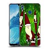Head Case Designs Decorazione di Natale Babbo Natale Magro Cover Morbida in Gel per Huawei Honor 8X Max