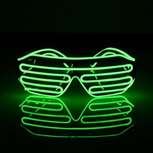 (LEDMOMO Blinkende LED-Show-Spielzeug-Gläser leuchten Slotted Shutter Sonnenbrillen Shades Party Favors (grün))