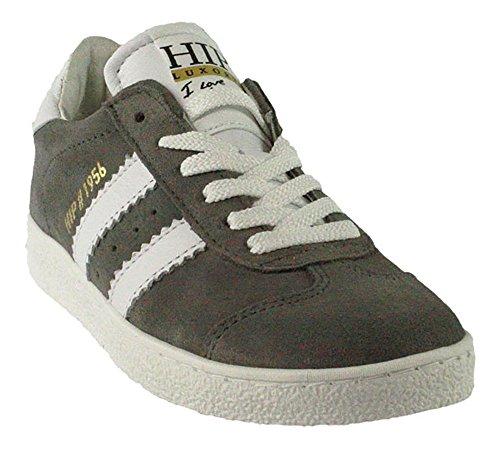 HIP | Sneaker | Schnürer Reißverschluss - grau | mauve Grau