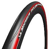 Michelin Power Endurance Pneu de Vélo Route Mixte Adulte, Rouge, 700 x 25C