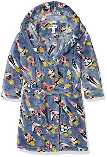 Hatley Jungen Kleid Fleece Robe-Retro Rockets, Blau-Blau, L (Kleinkind Größe Gewand)