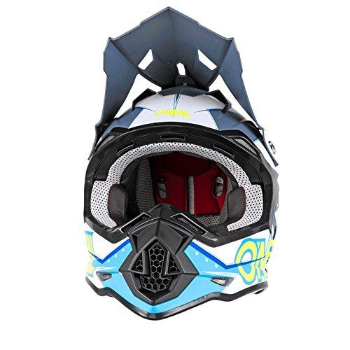 O'Neal 2Series RL MX Helm Slingshot blau Moto Cross Enduro Quad Offroad DH, 0200-04, Größe M -
