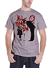 All Time Low Homme T Shirt Gris Naughty band logo future hearts nouveau officiel