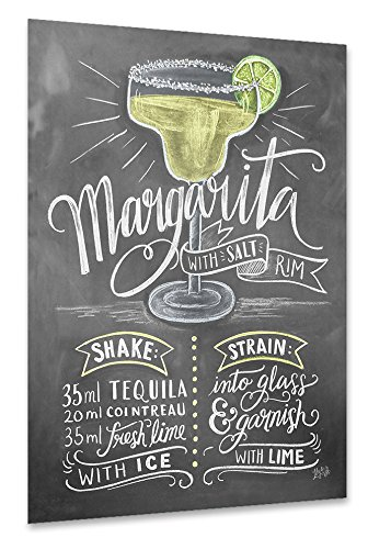 """artboxONE Poster 30x20 cm Typografie Essen & Trinken """"Margarita Cocktail"""" bunt hochwertiger Design Kunstdruck - Bild Typografie Essen & Trinken von Lily & Val"""