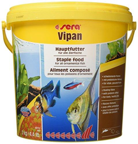sera 00190 vipan 2 kg (10 l) -  der Klassiker - Hauptfutter für alle Zierfische in Gesellschaftsaquarien, Flockenfutter, für schönere und größere Fische