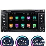 ROADYAKO Android 8.1 Auto Media für Vw Touareg/Multivan 2008 2009 2010 2011 Autoradio Stereo mit GPS-Navigation 3G WiFi Spiegelverbindung RDS FM AM Bluetooth