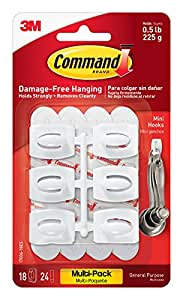 Command Mini Hooks Value Pack [white]