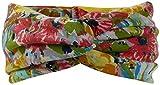 Harrys-Collection Mädchen Kinder Haarband oder Stirnband in 4 Farben mit Blumen, Farben:gelb, Kopfgröße:Einheitsgröße
