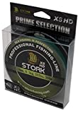 Stork HDx8, 8-Fach geflochtene premium Angelschnur 300m (Moosgrün, 30 lbs / 13.6 kg / 0.22 mm)