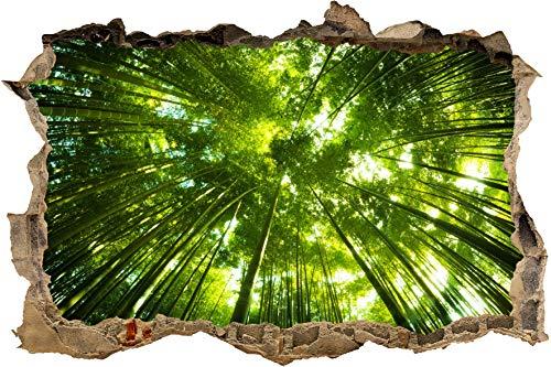 wandmotiv24 3D-Wandsticker Bambus Wald Design 01 - klein Aufkleber Mauerdurchbruch M0338