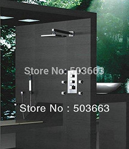 Luxurious shower Neue thermostatmischer Ventil gebürstet 8