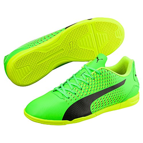 Puma  Adreno Iii It, Chaussures de foot pour femme GREEN GECKO-PUMA BLACK-SAFETY