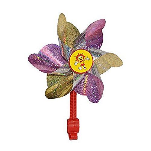 Windmühle Windrad Fahrrad Propeller violett/gold Kinder (Fahrrad-propeller)