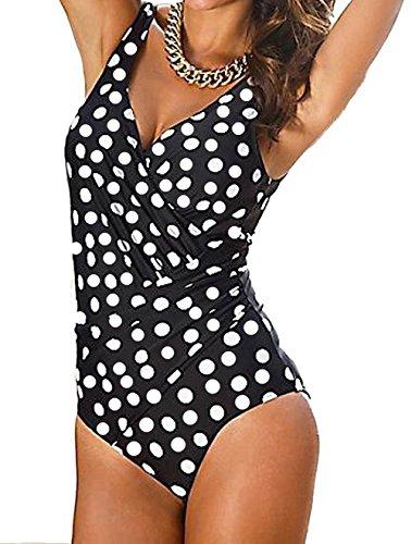 Jusfitsu Donne Sexy Imbottito Costumi Da Bagno Bikini Set Monokini Tankini Costumi interi da bagno taglia grossa Punto