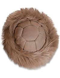 Nordvek - Gorro ruso estilo cosaco para mujer - 100% piel de oveja auténtica - Pelo largo o corto - Talla única - # 501-100