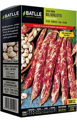 Batlle Gemüsesamen – Stangenbohne Big Borlotto Trockene Bohnen (100g)