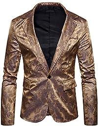 Trajes De Fiesta Casuales De Los Hombres Patrón Traje De Impresión Blazers
