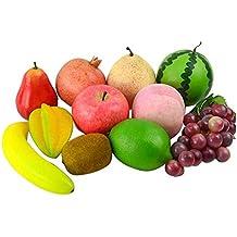 Satz von 11 Emulational Fruit Home / Küche Dekoration Requisiten, Play Food Set