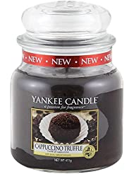 Yankee Candle 1332230E Bougie senteur Cappuccino Truffle en jarre Rouge