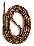SNORS - Schnürsenkel - SICHERHEITSSENKEL Braun/Schwarz 120cm, ca. 5mm - RUNDSENKEL für Arbeitsschuhe, Wanderschuhe, Trekkingschuhe