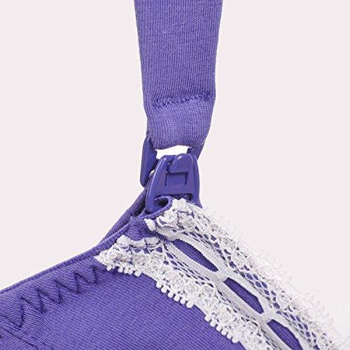Gratlin Femme Coton Souple Soutien-Gorge de Maternité Allaitement Armatures Bleu