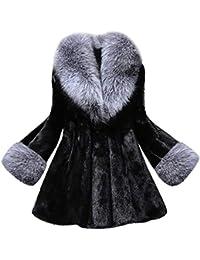 Abrigos Invierno para Mujer, Abrigo de Piel sintética Chaquetas Capas Parkas Cardigans cálido Mujer Invierno por Lunule