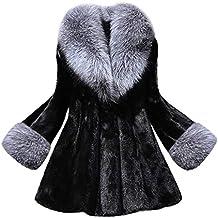 Abrigos Invierno para Mujer, Abrigo de Piel sintética Chaquetas Capas Parkas Cardigans cálido Mujer Invierno