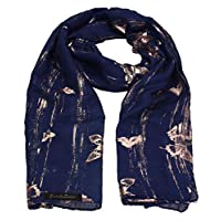 SWANKYSWANS Sarah Butterfly Rose Gold Foil Scarf Shawl Wrap