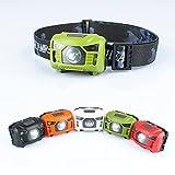 Lanlan Super Bright LED Scheinwerfer USB wiederaufladbar wasserdicht leicht 3Modi Scheinwerfer für Camping Angeln Jagd, grün