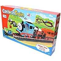 RVM Toys RVM Toy sHappy Travel Battery Operated Train Track Toy Set, Music Function, Flashing Lights & Train Voice