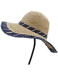 YINUO Gorras Fashio Straw Sun Hat Elegant Queen Homburg Panama Hat Caballero  (Color   Azul 5c4198b0547