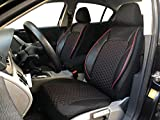 Sitzbezüge K-Maniac für Opel Astra J | Universal schwarz-rot | Autositzbezüge Set Vordersitze | Autozubehör Innenraum | Auto Zubehör Kunstleder | V1607570 | Kfz Tuning | Sitzbezug | Sitzschoner