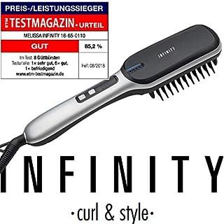 INFINITY 16650110 Hairstyling LED Bürste mit Display Haarstyler Haarbürste 3 Heizstufen 30 Watt
