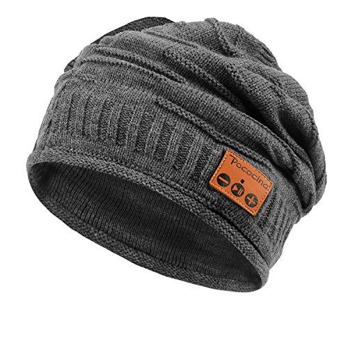 Pococina Kabellose Bluetooth Mütze, Weiche Bequeme Knit Beanie Hut mit Eingebauter Kopfhörer, kompatibel mit iPhone, Android Smartphone, iPad, andere Tablets und Laptops - (Themen Technologie Kostüme)