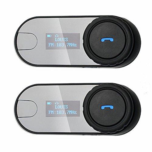 Boblov TCOM-SC W/Screen Bluetooth Motorcycle Motorrad Sturzhelm 800M Intercom Headset (TCOM*2)