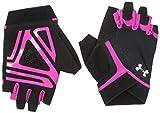 Under Armour Damen CS Flux Training Glove Handschuhe, Black/Tropic Pink/White (002), SM