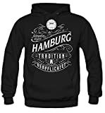 Mein leben Hamburg Kapuzenpullover | Freizeit | Hobby | Sport | Sprüche | Fussball | Stadt | Männer | Herren | Fan | M1 Front (XL)