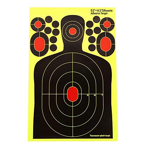 Shooting Splatter Ziele 15 Zoll Selbstklebende Papier reaktive Ziel Aufkleber für Pistole Gewehr Pistole Bb Gun Airsoft Pellet Gun Luftgewehr (Airsoft Pellet Gun)