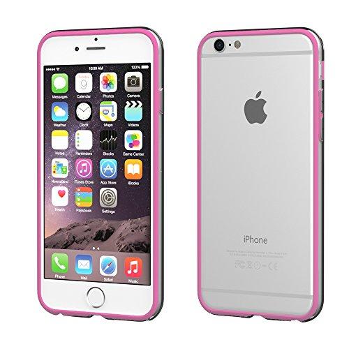 Apple iPhone 5C Hülle, EAZY CASE Bumper - Premium Handyhülle aus Silikon - Flexible Schutzhülle als Cover in Grün Rosa