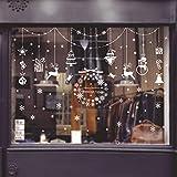 Kaliwa Fensterdeko Fensterbilder für Weihnachts- und Winter- Dekoration, für Türen,Schaufenster, Vitrinen, Glasfronten und mehr