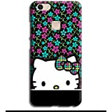 Printvisa Hello Kitty Green Girl Girly Type Colorful Designer Printed Hard Back Case For Oppo F5